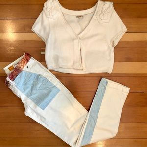 Anthropologie Pilcro Hyphen Exotic Mix  Jeans